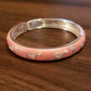 Pink💗💗💗hearts enamel bangle